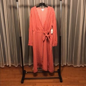 TiX midi length wrap dress NWT
